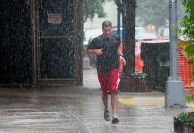 Бег под дождем